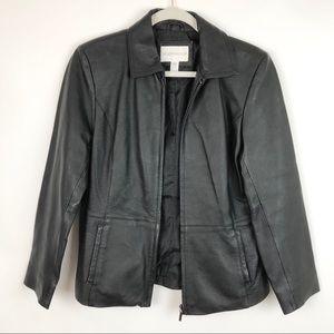 Worthington Black Leather Jacket Small